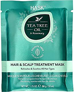 HASK Tea Tree Oil & Rosemary Hair & Scalp Treatment Mask 50g