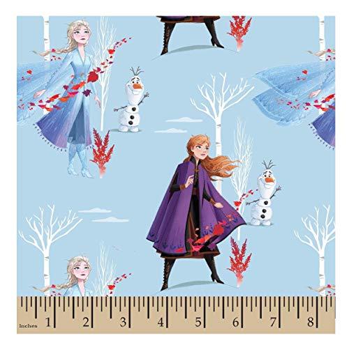 Frozen North Winds Cotton Fabric - Elsa & Anna - 1 Yard Cut