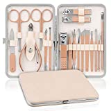 Manicure e Pedicure Set NASUM, Set Manicure Professionale,Tagliaunghie Set Professionale, per Manicure e Pedicure, Pulizia Cuticole (18 pezzi)