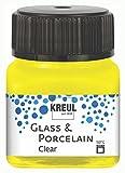 Kreul 16291 - Pintura para cristal y porcelana (20 ml), color amarillo