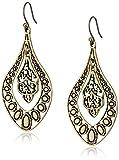 Lucky Brand Gold Filigree Oblong Earrings