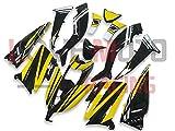 LoveMoto Carenados para TMAX530 2012 2013 2014 12 13 14 TMAX 530 Kit de carenado de Material plástico ABS Moldeado por inyección para Moto Amarillo Negro