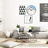 壁掛け時計-12インチの愛らしいチキン品質のクォーツ電池式、サイレントティックなし、読みやすい、家庭/オフィス/教室/学校モダンな装飾時計 Nice family