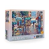DEDC Rompecabezas 1000 Piezas para Adultos Niños, Art Painting Puzzle Decoración Rompecabezas Educativos Juegos de Bricolaje Brain Challenge Puzzle Sets, 38x26cm (Pequeño Pueblo)