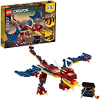LEGO Creator 3-in-1 Fire Dragon 31102 Building Kit (234-Pieces)