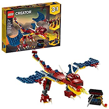 LEGO Creator 3in1 Fire Dragon 31102 Building Kit Cool Buildable Toy for Kids  234 Pieces