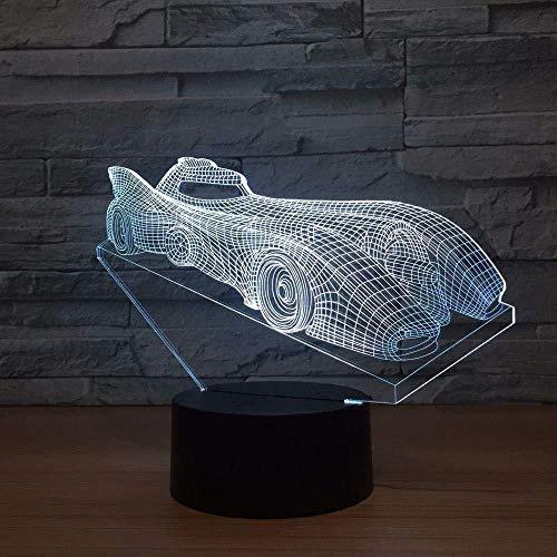 Night Light 3D Racing Model Car Flahing Una novedad y cumpleaños Chritma Bet para juguetes Cumpleaños Regalos de Navidad