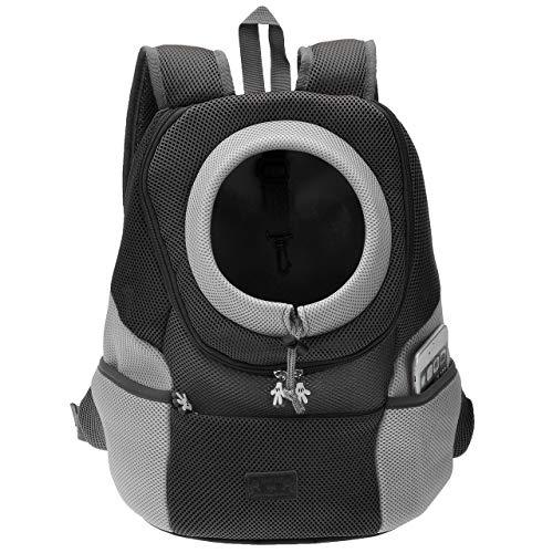 Filhome Hunderucksack Katzenrucksack Tragetasche Reisetasche Transporttasche Atmungsaktive Hundeträger Reise Rucksack Haustiertragetasche (Schwarz/XL)
