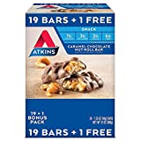 Atkins Snack Caramel Chocolate Nut Roll Pack (20 Bars)