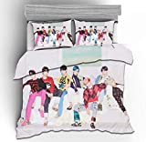 BTS Duvet Cover Duvet Cover 3-Piece Bedding Set Four Seasons Applicable Warm and Cozy Polyester Fiber Material is Soft Full Size for Teenagers Single Bed Youth Student / 5 / BTS / 200230cm