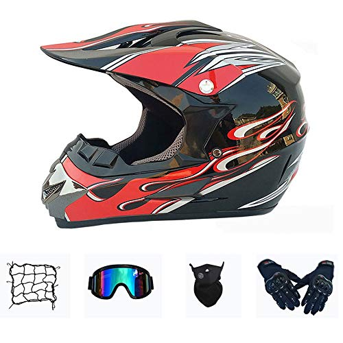 XIUJC Motocross Motorradhelme Kinder Integralhelme, Enduro Cross Helm Downhill Helm...