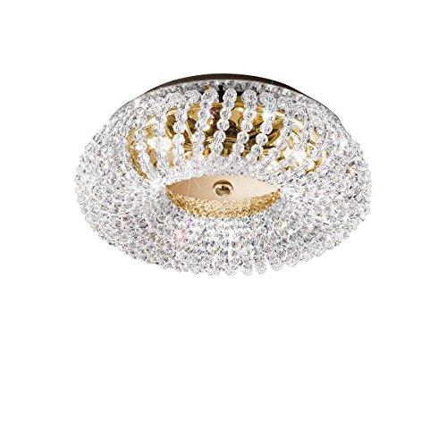 Kolarz–Lámpara de techo carla 24quilates oro a mano, Made in Italy