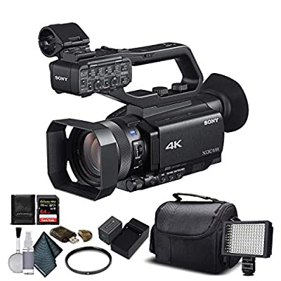 Sony PXW-Z90V 4K HDR XDCAM with Fast Hybrid AF(PXW-Z90V) with 16GB Memory Card, Extra Battery and Charger, UV Filter, LED Light, Case and More. - Starter Bundle from Mad Cameras