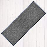 TrendMakers Dirt Stopper Carpet Runner 60cm x 160cm Grey/Black.With Non-Slip Back