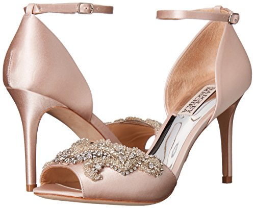 Badgley Mischka Women's Barker Dress Sandal, Light Pink, 8.5 M US