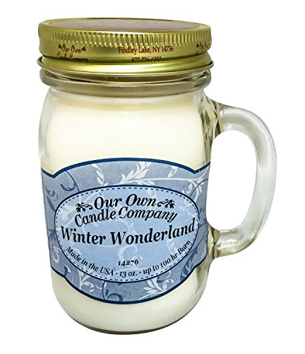 our own candle Company Large Cedarwood Vanilla Candle, Pink
