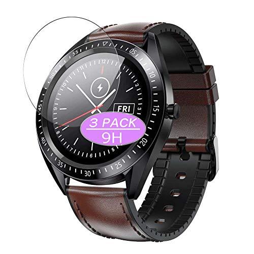 Vaxson - Confezione da 3 pellicole protettive in vetro temperato, compatibile con Couax Bosis da 1,33 cm, XY-W1, pellicola protettiva per smartwatch e smartwatch