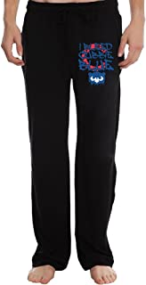 LPO-HHAA Men's Athletic Sweatpant - Bleed Cubbie Blue Casual Long Pant with Pockets for Workout Gym Running