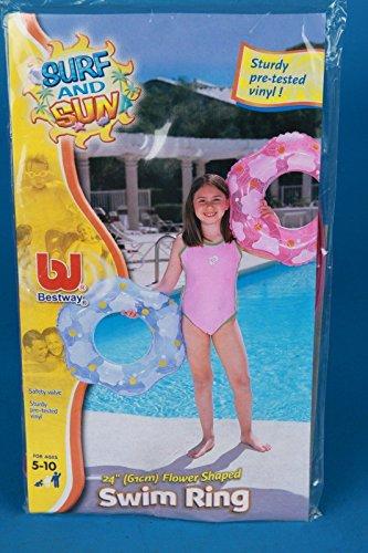 Bestwey Schwimmring 61 cm Blume geformte Swing Ringe 2-Fach Sortiert