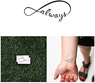 Tattify Infinity Always Temporary Tattoo - With You (Set of 2) - Other Styles Available - Fashionable Temporary Tattoos - Long Lasting and Waterproof