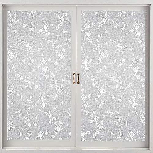DUTISON Statische Fensterfolie Selbsthaftend Blickdicht Anti-UV Folie Für Zuhause Badzimmer oder Büro Matt 44 X 200 cm