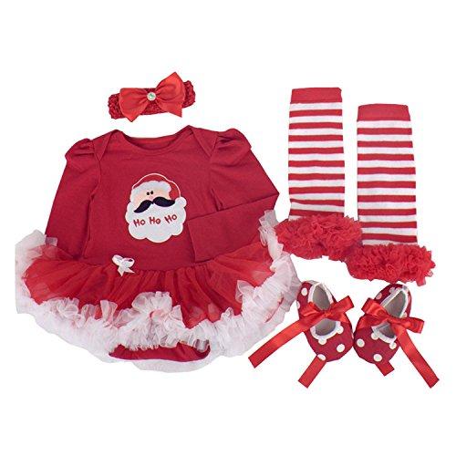 BabyPreg Niñas bebés Mi primera Navidad traje de Santa del partido d