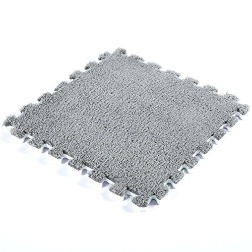 Sureh - Alfombrillas de espuma entrelazadas para el suelo, 12 alfombras esponjosas para niños, gimnasio, ejercicio, bebé, colchoneta de peluche suave, para protección del suelo, yoga