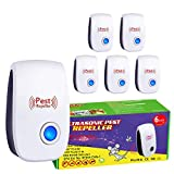 Ultrasonic Pest Repeller, 6 Packs Pest Repellent Plug in, Upgraded Eco-Friendly Ultrasonic Pest Control, Indoor for Anti Mice, Mosquitos, Insects, Bugs, Ants, Spiders, Roaches, Rodents, Rats