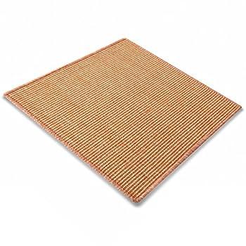 casa pura Tapis pour Chat - Tapis griffoir en sisal résistant | Fibre 100% Naturelle Anti-Allergique | Abricot - 100x100cm