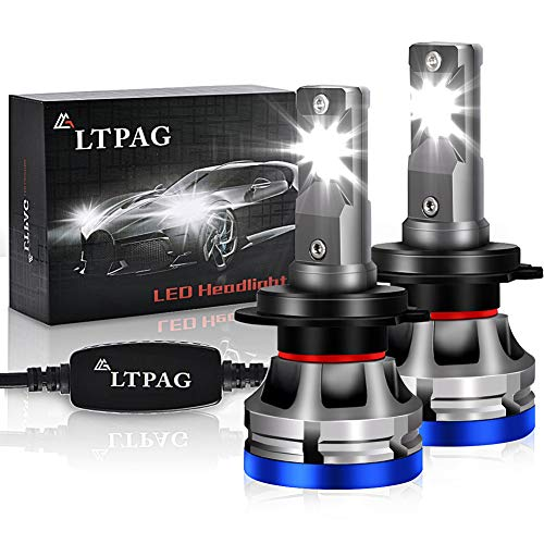 H7 LED, LTPAG Bombilla H7 LED Coche,72W Lampara H7 LED 12000LM Luces LED Coche...