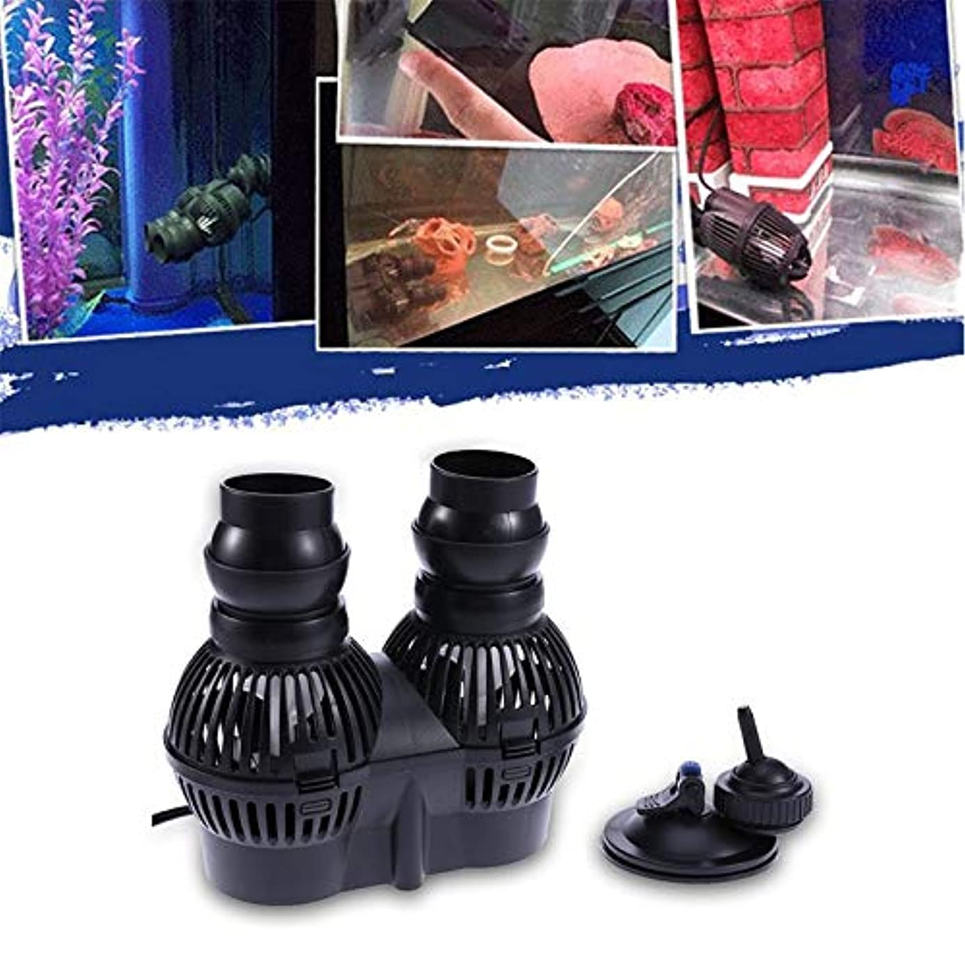 Ants-Store - 2.5W/3W/12W/24W Circulation Pump Wave Maker Aquarium Reef Powerhead JVP-110/100A/201A/202A Sucker Suction Wave Pump
