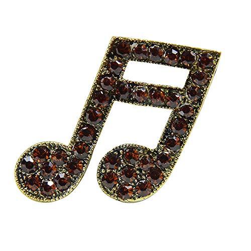 Chennnnnn Broche Musical Instrumento Aleación Diamante Broche Broche