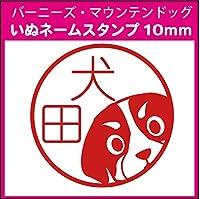 バーニーズマウンテンドッグ 犬 ネーム印 ブラザースタンプ印字面10×10mmインク朱色 SNM-010100412-65
