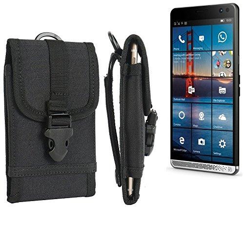 K-S-Trade® Handyhülle Für HP Elite X3 Gürteltasche Handytasche Gürtel Tasche Schutzhülle Robuste Handy Schutz Hülle Tasche Outdoor Schwarz