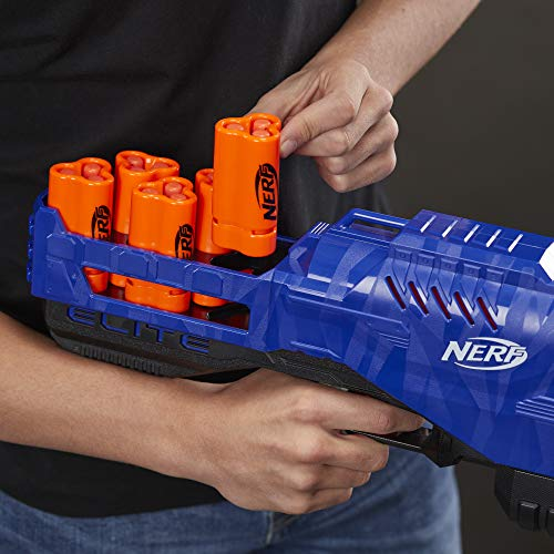 Trilogy DS-15 Nerf N-Strike Elite Toy Blaster with 15 Official Nerf Elite Darts and 5 Shells, for Children, Teens, Adults