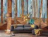 Tapete 3D Mittelmeer Elch Nordic Moderne Wohnzimmer Schlafzimmer Großes Wandbild Wanddekoration-400cmx280cm Fototapete - Vlies - Wandsticker - Plakatdekoration
