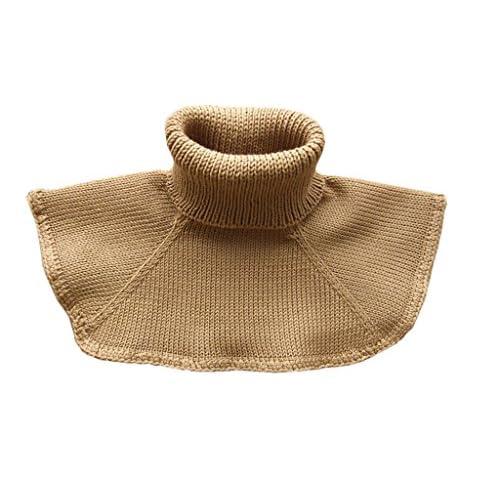 Sciarpa invernale in 100% lana merino per bambini, lavorata a maglia, colore: marrone, taglia S