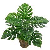 1 plante artificielle Monstera pour la maison, le bureau, faux feuillage très réaliste,vert