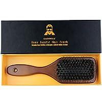 GAINWELL CEPILLO DE PELO DE CERDAS DE JABALÍ– 100% naturales con mango de madera, para todo tipo de cabello