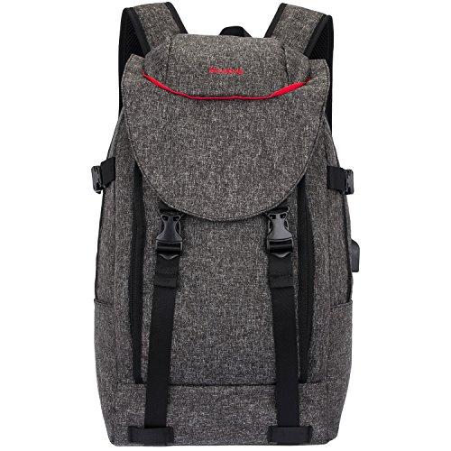 NiceEbag 15.6 Inch Laptop Backpack Computer Travel Case Rucksack Casual Business Bag with USB Charging Port Water-Resistant College Bookbag Gadgets Backpack for Laptop/Ultra-Book/Tablet/Men/Women