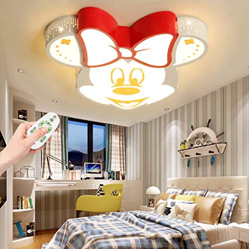 Deckenleuchte LED Mickey Acryl Lampeschirm Deckenlampe Junge Mädchen Baby Kinder Deckenlampe 40W Dimmen Fernbedienung Innenbeleuchtung Wohnzimmer Kinderzimmer Kindergarten Restaurant Lampe Wandleuchte