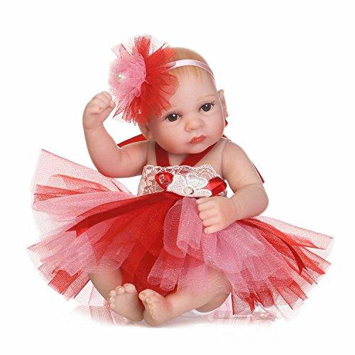 TERABITHIA 10 inch Mini Lifelike Full Body Reborn Baby Doll That Look Real, Little Princess Dressed in Colorful Dress