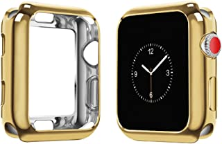 top4cus Environmental Soft Flexible TPU Anti-Scratch Lightweight Protective 44mm Iwatch Case Compatible Apple Watch Series 5 Series 4 Series 3 Series 2 Series 1 - Gold