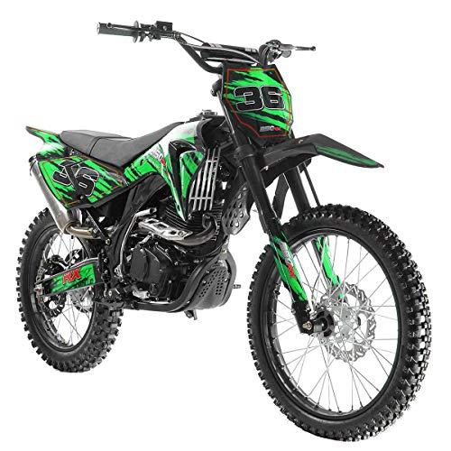 X-PRO 250cc Dirt Bike Pit Bike Gas Dirt Bikes Adult Dirt Pitbike 250cc Gas Dirt Pit Bike,Green