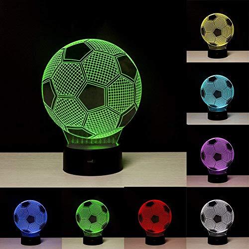 Linkax Luce notturna 3D Illusione Ottica Led Lampada di Illuminazione Luce decorazioni Luci notturne Per comodino Bambini cameretta 7 telecomando a colori con Base & Caricatore USB
