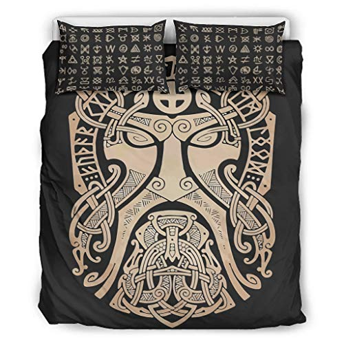 Go Go Grifendoor Bedspreads All Year Round & Soft - Viking Duvet Sets 1 Duvet Cover & 2 Pillow Cases Pleated White 229 x 229 cm