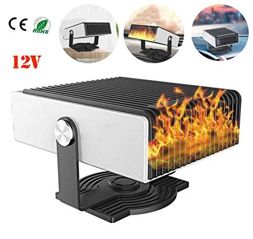 Queta 360/°Portable de Voiture Ventilateur Chauffage Ventilateur de Chauffage Voiture D/égivrage et D/ésembuage 12V