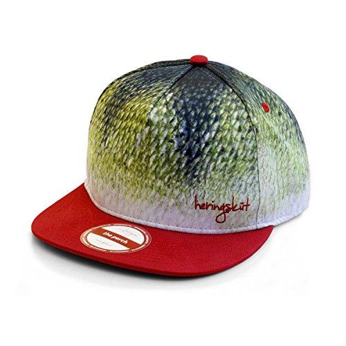 heringsküt Angel Cap I Basecap für Angler Snapback Anglerkappe Unisex I One Size 56 cm – 62 cm, Motiv Barsch