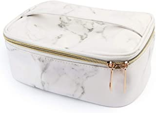 HOYOFO Marble Makeup Bag Small Cosmetic Case for Travel PU Toiletry Bag