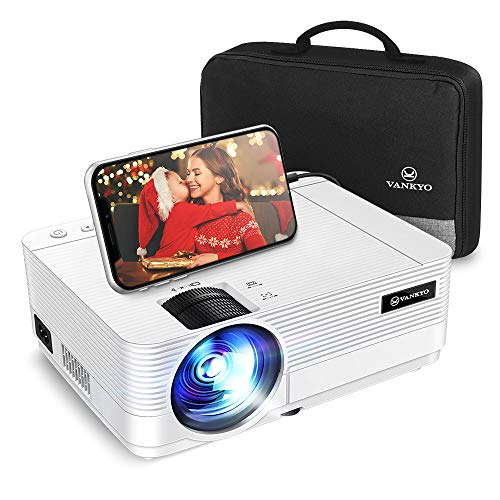 """VANKYO Proiettore 720P 5500 Lumen, Videoproiettore Display da 250"""" HiFi Speaker, 2 Porte HDMI, con Borsa Portatile, Design Compatto per iOS/Android TV Stick Home Cinema Regalo, Leisure 470C"""
